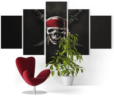 Pirate Skull Wall Art