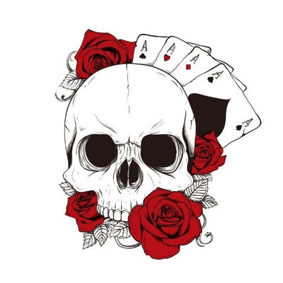 Poker Skull Sticker