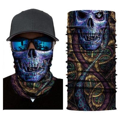 Purple Skull Bandana