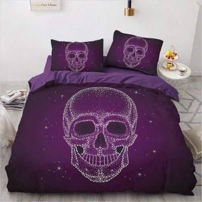 Purple Skull Bedding