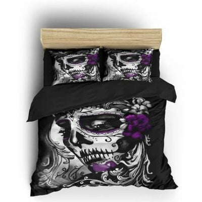 Queen Skull Bedding