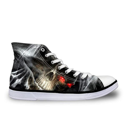 Red and Black Skull Shoes