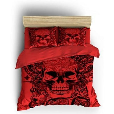 Red Skull Bedding