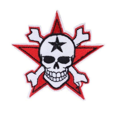 Red Star Skull Patch