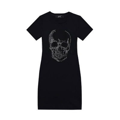 Rhinestone Skull Dress