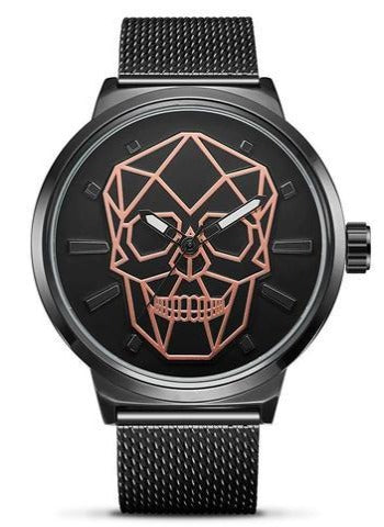 Rose Gold Skull Watch