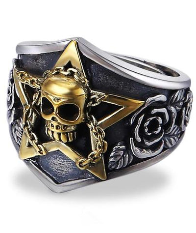 Shield Skull Ring