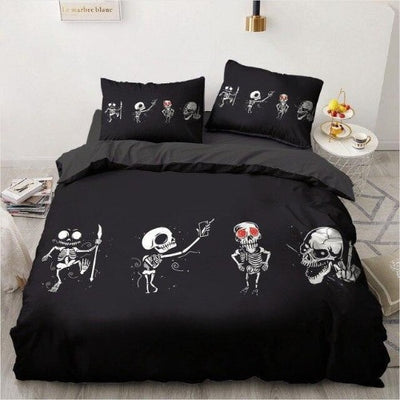 Skeleton Skull Bedding