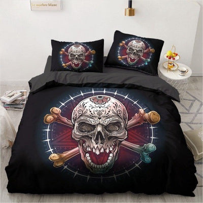Skull and Bones Bedding Set