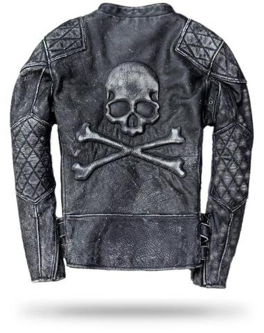 Skull and Crossbones Leather Jacket