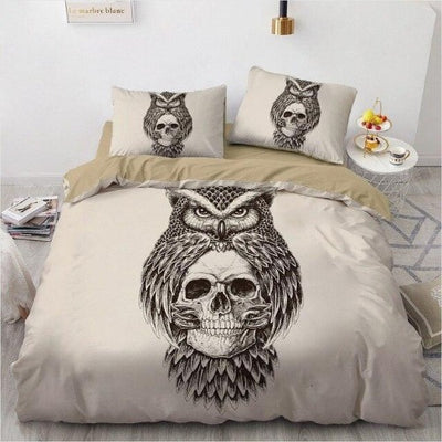 Skull and Owl Bedding