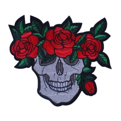 Skull and Rose Patch