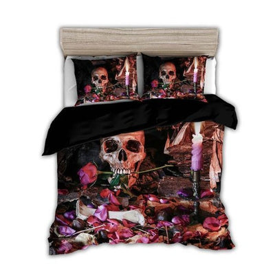 Skull and Roses Bedding