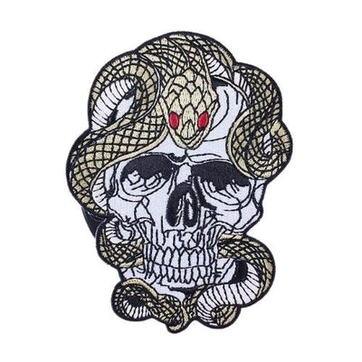 Skull and Snake Patch