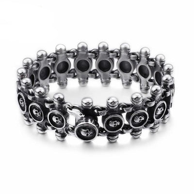 Skull Bicycle Chain Bracelet