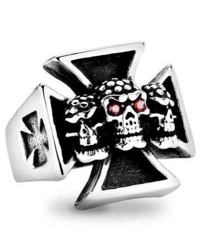 Skull Cross Ring