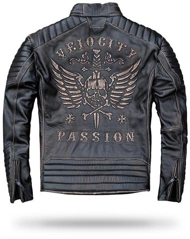 Skull Leather Riding Jacket