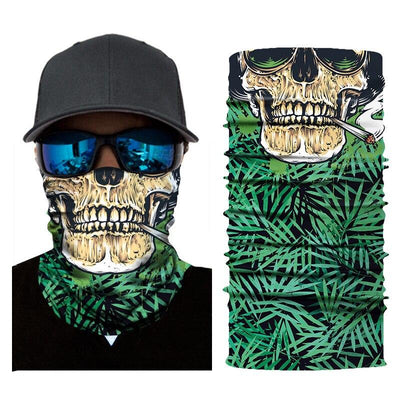 Smoking Skull Bandana