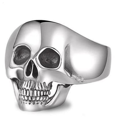 Solid Silver Skull Ring
