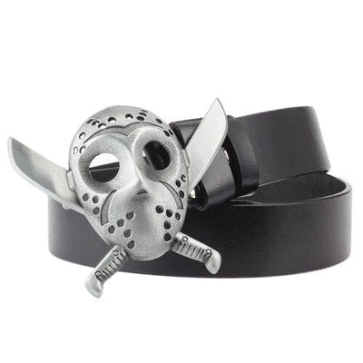 Sterling Silver Skull Belt Buckle