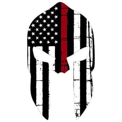 Thin Red Line Skull Decal