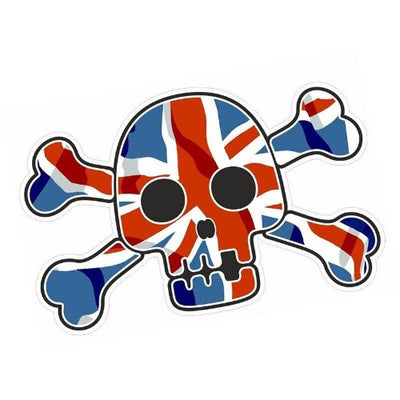 United Kingdom Flag Skull Decal