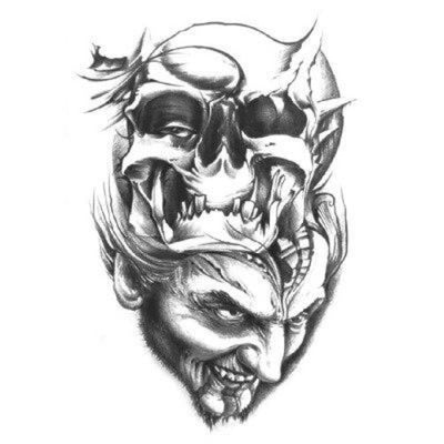 Vampire Skull Temporary Tattoo