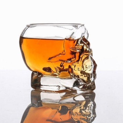 Whiskey Skull Glass