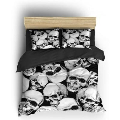 White Skull Bedding
