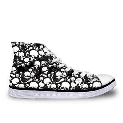 White Skull Shoes