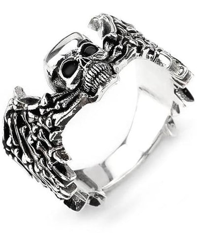 Winged Skull Ring