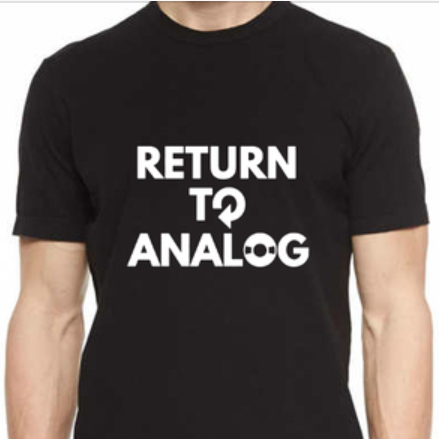 "T-Shirt ""Return to Analog"""