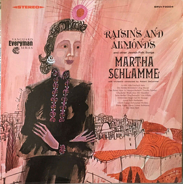 Martha Schlamme - Raisins and Almonds and Other Jewish Folk Songs (Vinyle Usagé)