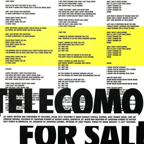 Telecomo - For Sale (Vinyle Neuf)