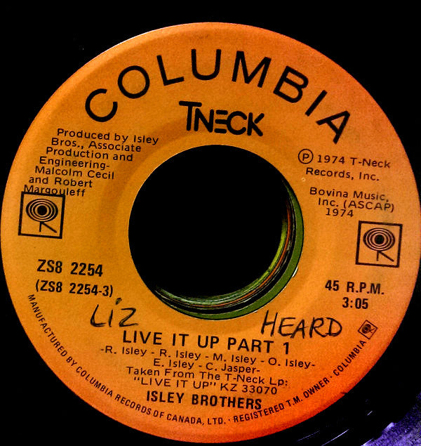 The Isley Brothers - Live It Up Part 1 / Live It Up Part 2 (45-Tours Usagé)