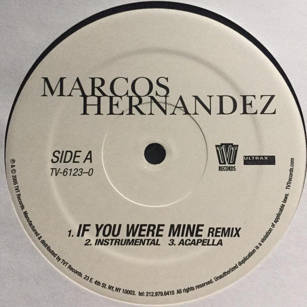 Marcos Hernandez - If You Were Mine Remix (Vinyle Usagé)