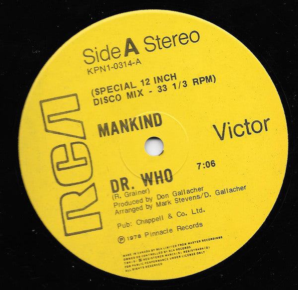 Mankind - Dr Who (Vinyle Usagé)