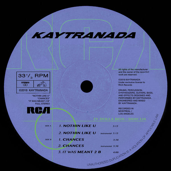 Kaytranada - Nothin Like U / Chances (Vinyle Neuf)