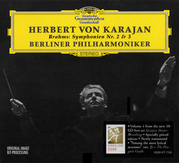 Brahms / Karajan - Symphonien Nr 2 and 3 (CD Usagé)