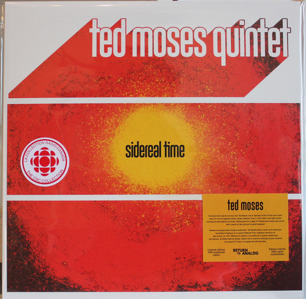 Ted Moses - Sidereal Time (Vinyle Neuf)