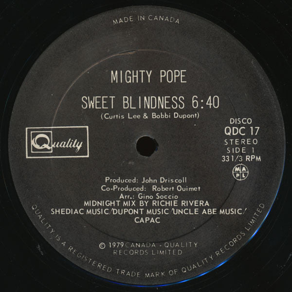 Mighty Pope - Sweet Blindness (Vinyle Usagé)