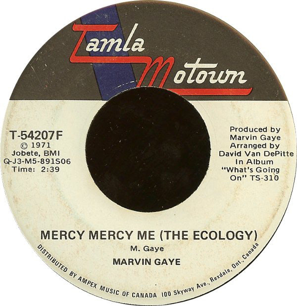 Marvin Gaye - Mercy Mercy Me (the Ecology) (45-Tours Usagé)