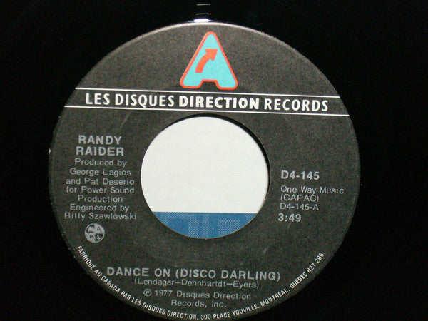Randy Raider - Dance On (disco Darling) (45-Tours Usagé)