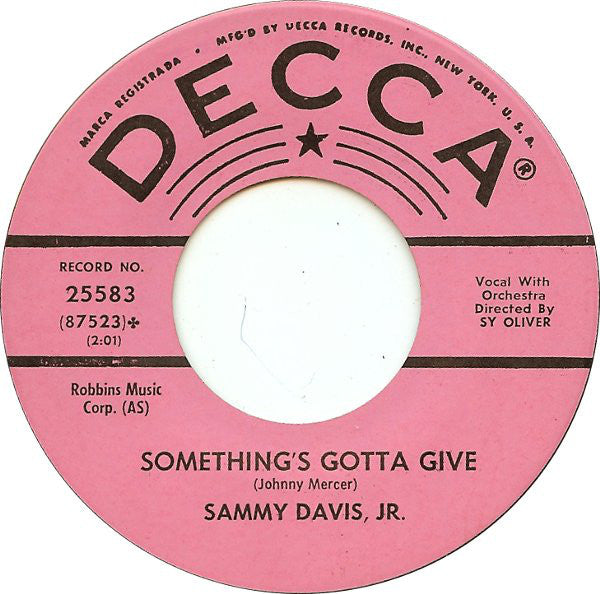 Sammy Davis Jr - Somethings Gotta Give (45-Tours Usagé)