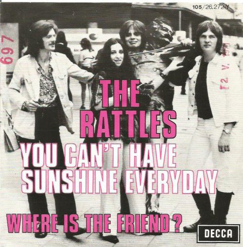 The Rattles - You Cant Have Sunshine Everyday (45-Tours Usagé)