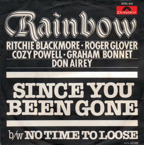 Rainbow - Since You Been Gone B/w No Time To Loose (45-Tours Usagé)