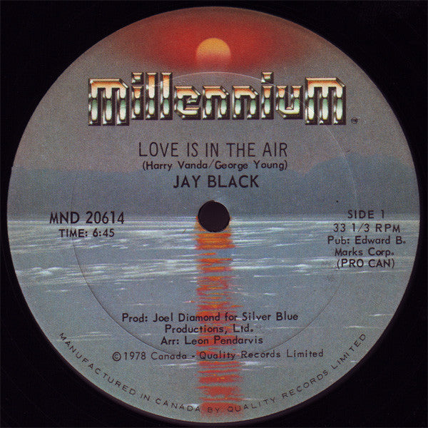 Jay Black - Love is in the Air (Vinyle Usagé)