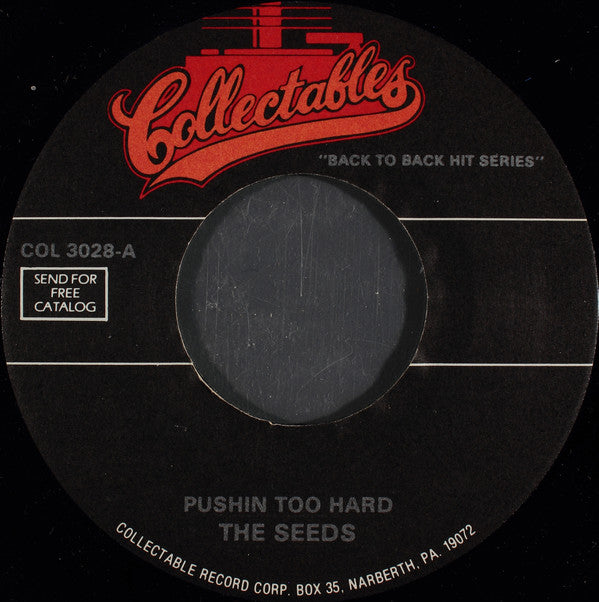 The Seeds / The Standells - Pushin Too Hard / Dirty Water (45-Tours Usagé)