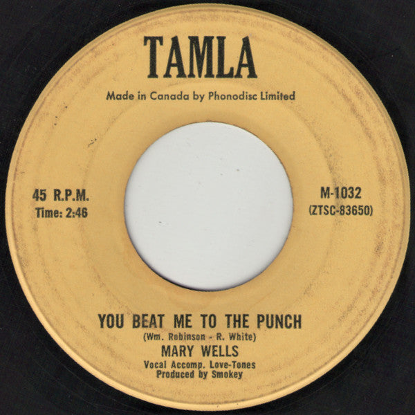 Mary Wells - You Beat Me To The Punch / Old Love (lets Try It Again) (45-Tours Usagé)