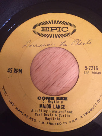 Major Lance - Come See (45-Tours Usagé)